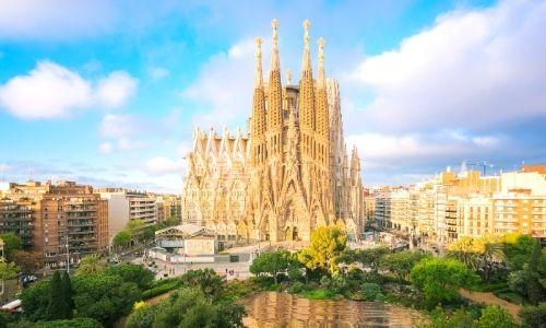 Façade de la Sagrada Familia de Barcelone