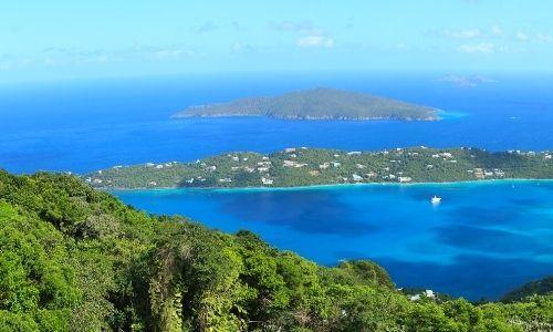 Iles vierges d'Amérque, grand paysage d'île et de l'océan