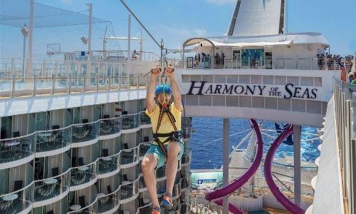 Le Zip Line du Harmony of the Seas