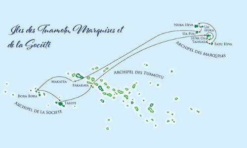 Itinéraire de croisière dans les Marquises