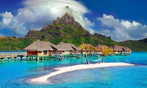 Les pilotis de Tahiti en Polynésie Française