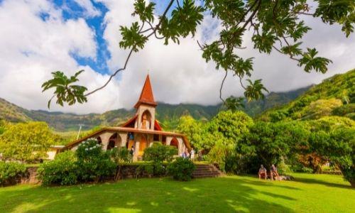 L'église en pierre de Tahuata
