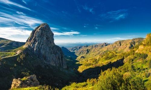 Le parc national de Garajonay à La Gomera et le rocher d'Agando