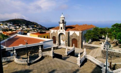 Le village de Valverde à El Hierro et l'Iglesias de la Concepcion