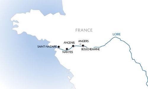 Itinéraire de croisière entre Nantes et Bouchemaine