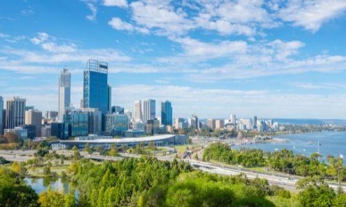 La ville de Perth en Australie et son port Fermantle