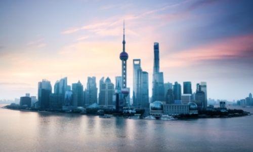 Les berges et grattes-ciel de ShangHai en Chine