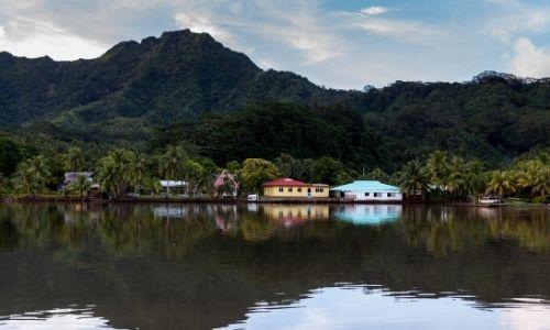 La baie de Ha'aneme sur l'île de Tahaa