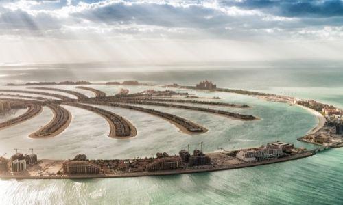 Vue aérienne du Plam Jumeirah