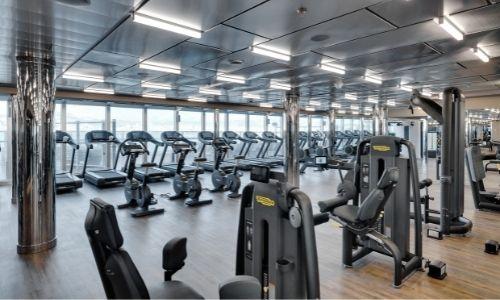 Salle de fitness dans un navire MSC croisières