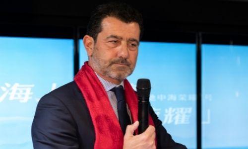 Le Président Directeur Général de MSC Croisières Gianni Onorato en conférence de presse