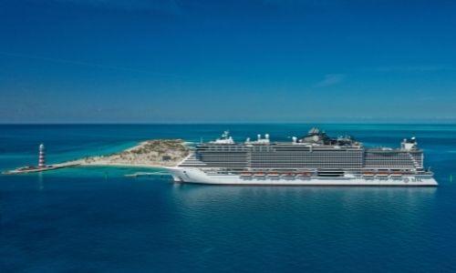 Le navire MSC Seaside aux Bahamas