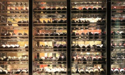 La cave à vin de l'Austral dans le restaurant gastronomique