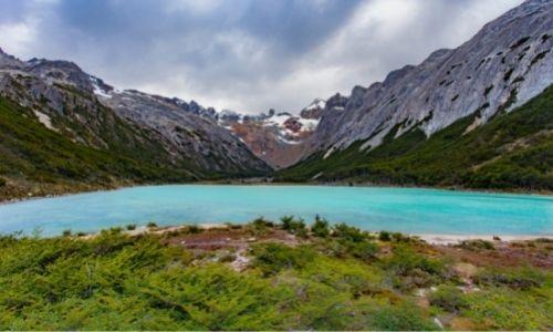 La Lagune Esmeralda à Ushuaia et son eau bleue turquoise