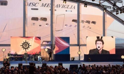Concert de Patrick Bruel organisé par MSC, une scène et son publique