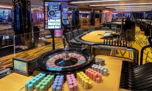 Le casino d'un des bateaux de la flotte MSC
