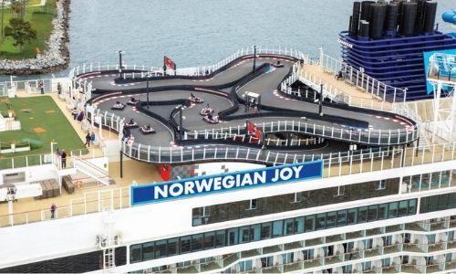 Le circuit de Karting sur le Norwegian Joy